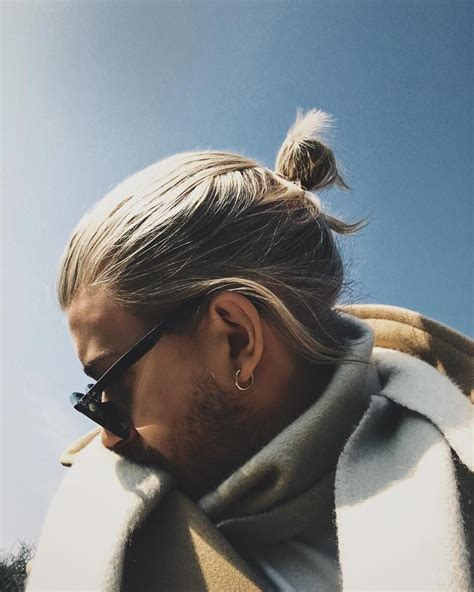 awesome  newest mens top knot hairstyles