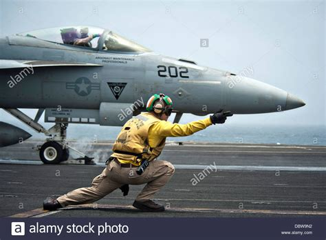 Boatswain Naval Action a us navy aviation boatswain mate signals a f a 18e super