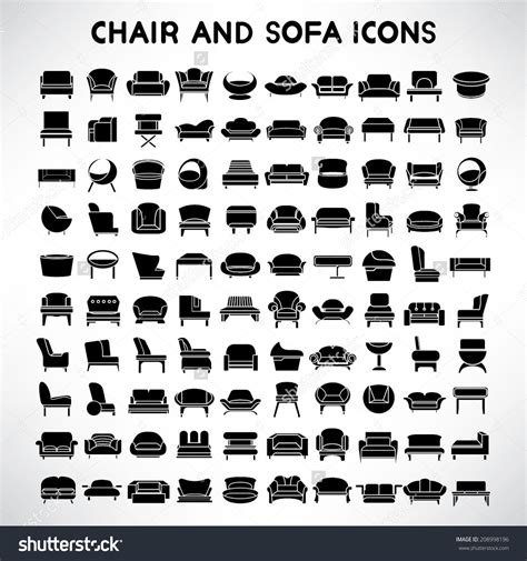 sofa isolated stock vectors vector clip art shutterstock furniture top view set 30 for interior