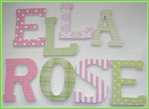 wooden letters for nursery pink and green theme baby girl With wooden letters for nursery