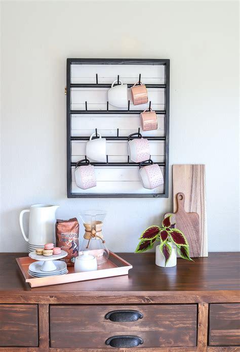 Get the best deals on mug racks/holders. How To Make A DIY Wall-Mounted Coffee Mug Display Rack