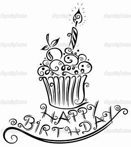 Birthday, muffin, cupcake — Stock Vector © christine_krahl ...