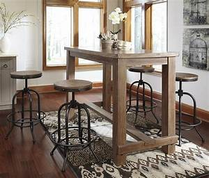Signature Design by Ashley Pinnadel 5-Piece Bar Table Set