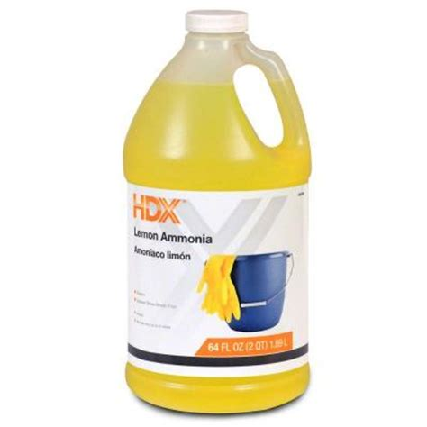 how to clean with ammonia hdx 64 oz lemon ammonia 19718615031 the home depot