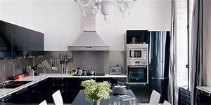 Cuisine Noire Et Blanches 20 Inspirations Marie Claire
