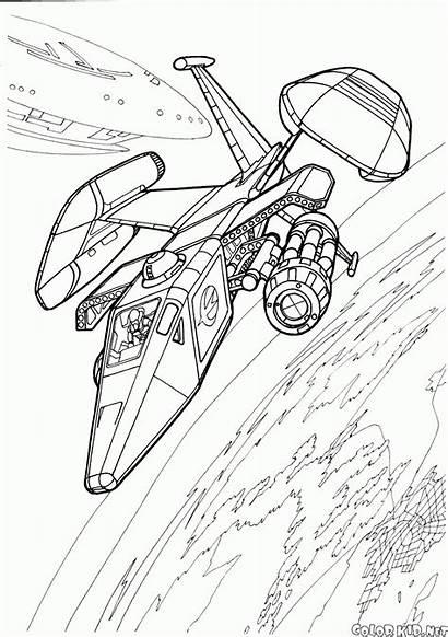 Coloring Futuristic Vehicles Spacecraft
