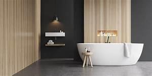 Revetement Douche Italienne : b ton cir dans une salle de bains le rev tement de sol ~ Edinachiropracticcenter.com Idées de Décoration