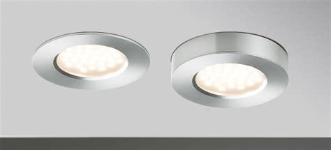 spot encastrable pour meuble de cuisine kit 3 spots 3 x 3w plat led intégrée alu paulmann 93547