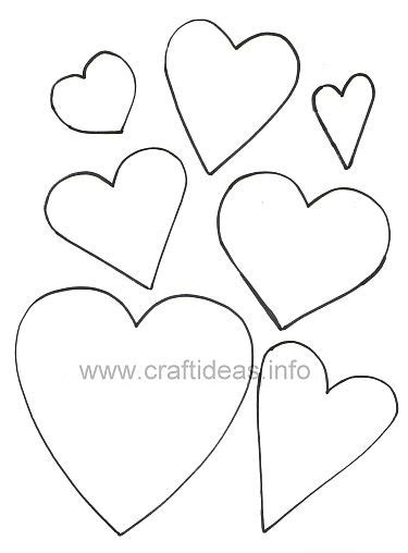 hearts templates  images heart template