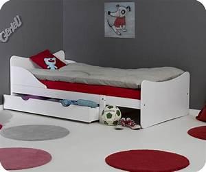 Lit enfant evolutif ivoo blanc for Nettoyage tapis avec canapé avec tiroir lit