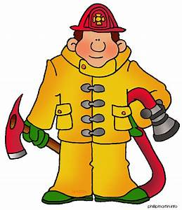 Free Occupations Clip Art by Phillip Martin, Firefighter