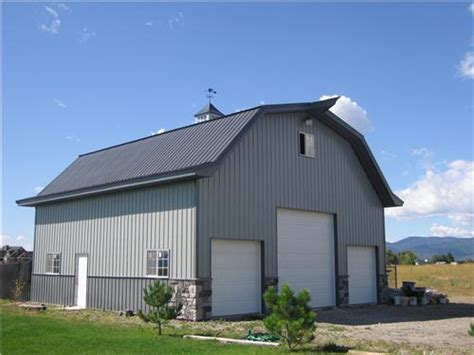 pole barn metal mid size shop buildings steel buildings metal pole