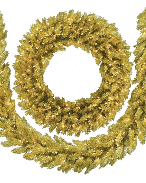 toasted chagne artificial christmas wreath treetopia