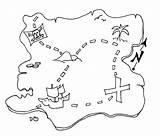 Treasure Coloring Maps Map Pirate Printable Pre Activities sketch template