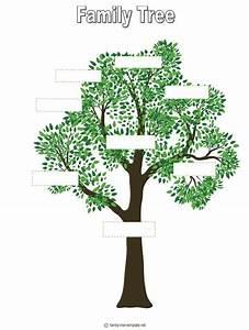 tree outline printable | Free Printable Family Tree ...
