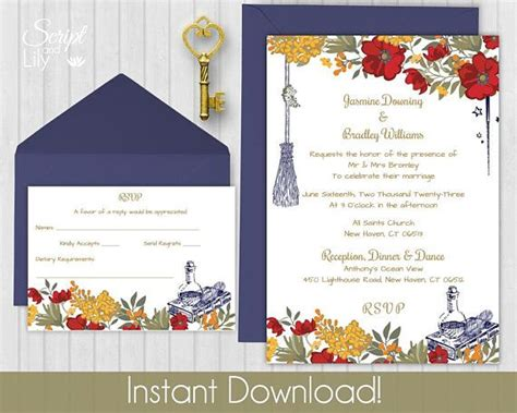 design harry potter invitation template  rsvp