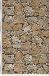 Pose De Papier Peint Intissé : papier peint mur en grosses pierres dor es papier peint ~ Dailycaller-alerts.com Idées de Décoration