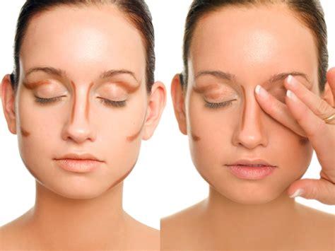 makeup tricks   slimmer face