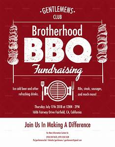 Raffle Flyer Template Word Barbecue Fundraising Flyer Design Template In Psd Word