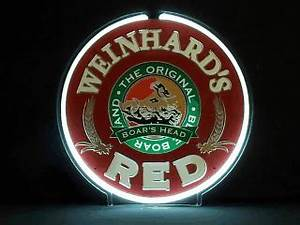 Weinhard's Red Motion Neon Beer Bar Sign Light