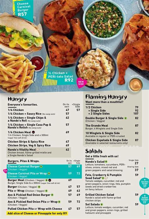 Nando's Menu Prices & Specials