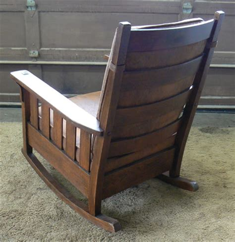 mission man antiques charles stickley rocking chair