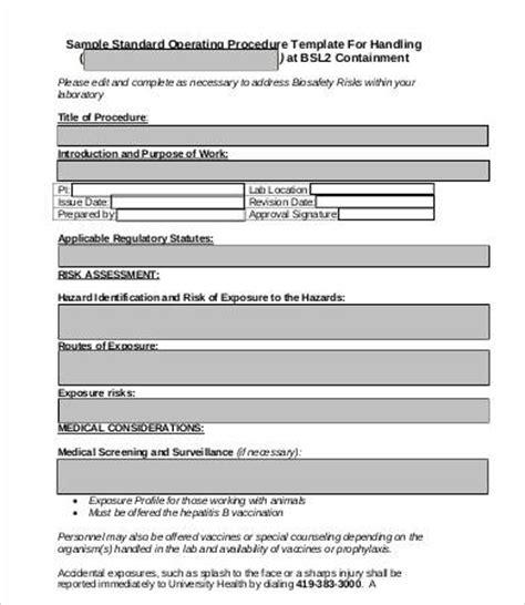 standard operating procedure template 8 standard operating procedure templates pdf doc free premium templates