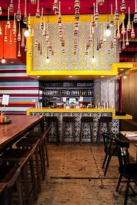 Rustic Mexican Restaurant with Yellow Bar and Reclaimed ...