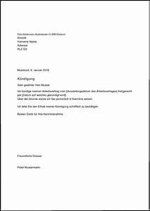 Vorzeitige Kündigung Mietvertrag : k ndigungsschreiben arbeitnehmer word vorlage ~ Lizthompson.info Haus und Dekorationen