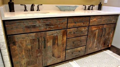 reclaimed wood bathroom vanity home design decorating  improvement ideas youtube