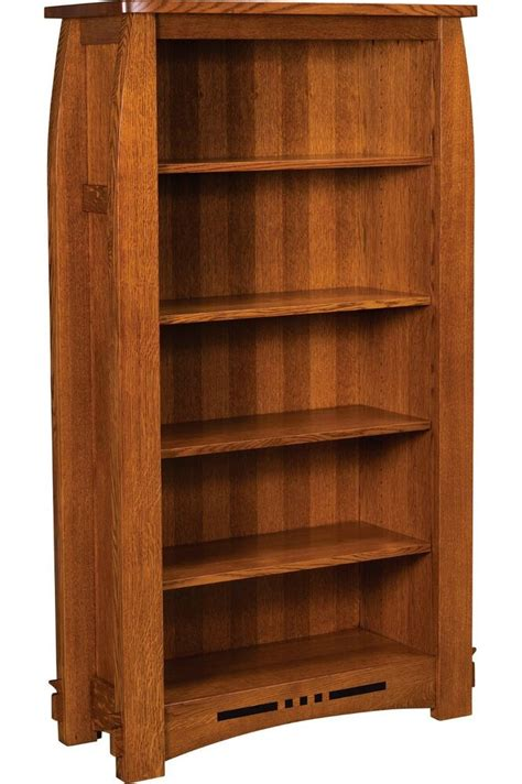 Solid Hardwood Bookcases by Amish Mission Colebrook Bookcase Book Shelf Solid Wood 65