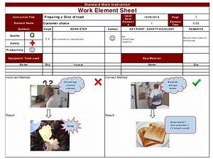 standard work instruction for toast kaizen 1 1 With visual work instruction template