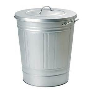 Small Bathroom Trash Can With Lid by Knodd Bidone Con Coperchio Galvanizzato 40 L Ikea