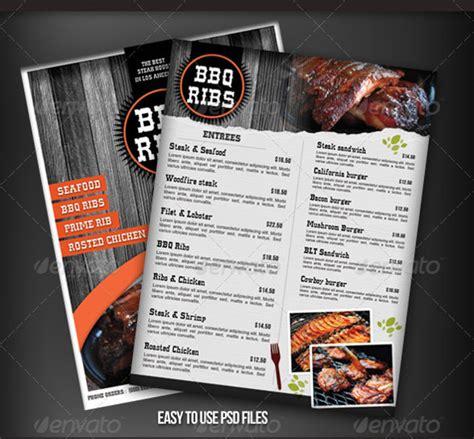 bbq menu templates   psd epd documents