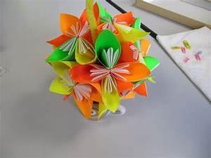 Origami Boule De Noel : boule de noel en papier origami ~ Farleysfitness.com Idées de Décoration