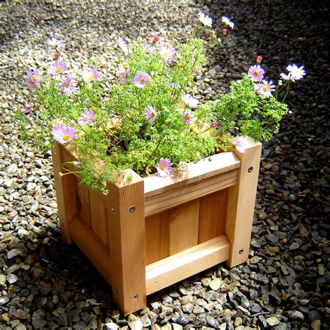 small square wood garden planter boxes using reclaimed
