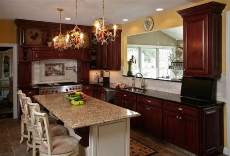 kitchen colors cherry cabinets what granite countertop color looks best with cherry 6571