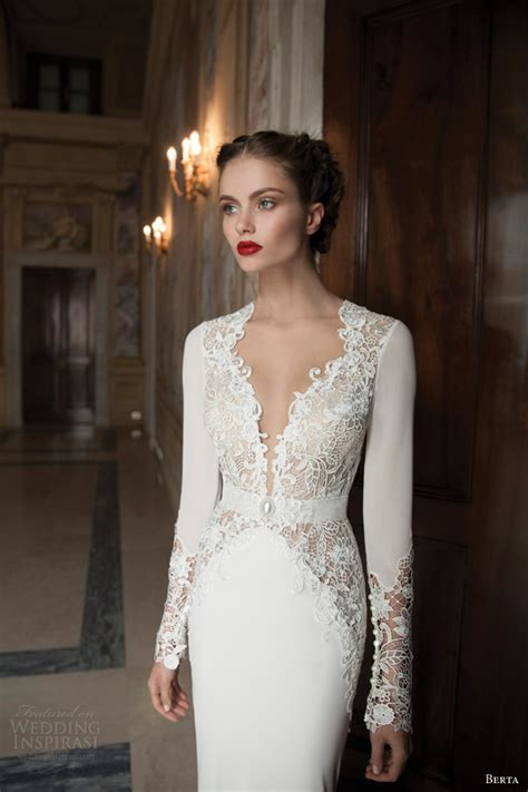 Berta Bridal Winter 2014 — Long Sleeve Wedding Dresses