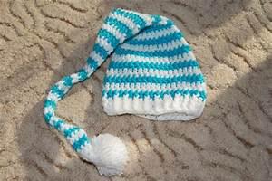 Baby Mützchen Stricken : geh kelte baby elfen bzw zipfelm tze wei t rkisblau gestreift mit wei em bommel ideal auch ~ Orissabook.com Haus und Dekorationen
