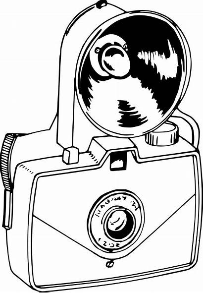 Camera Fashioned Clipart Vector Drawing Clip Royalty