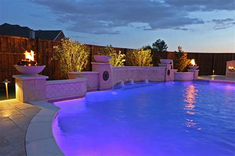 dallas plano pool fountains custom water features gallery