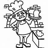 Baker Coloring Jobs Career Drawing Bread Getdrawings Night Shift Workers National Getcolorings Job sketch template