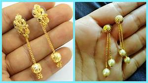 Daily Wear Gold Earrings Designs For Indian Women Download