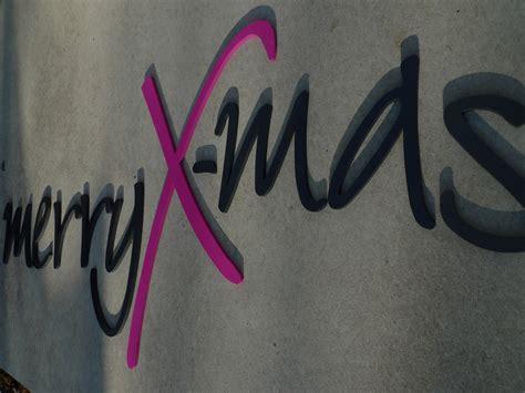 Merry X-mas Schriftzug Holzbuchstaben