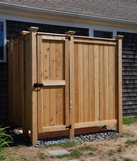 Cedar Outdoor Shower Custom Design  Cape Cod Shower Kits