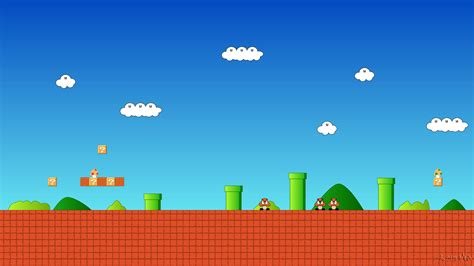 8 Bit Background 8 Bit Mario Wallpapers Wallpaper Cave
