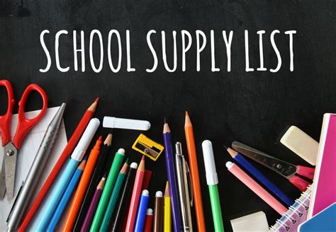 school supplies lists lockhart independent school district