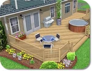 Back Porch Landscaping Ideas by Deck Across Entire Back Of House I Want A Big Front Porch