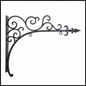 La Costa Wrought Iron Sign Brackets