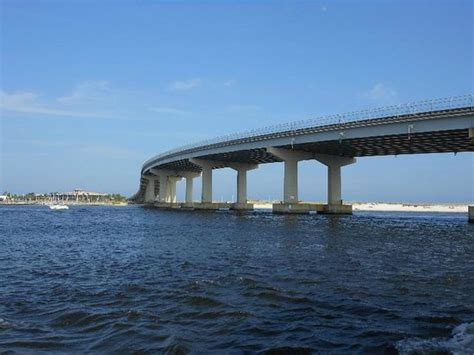 Glass Bottom Boat Tours Alabama by Passing The Bridge Picture Of Glass Bottom Dolphin Tours